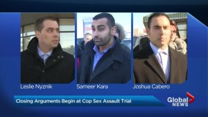 Closing arguments begin in sexual assault trial involving 3 Toronto police officers